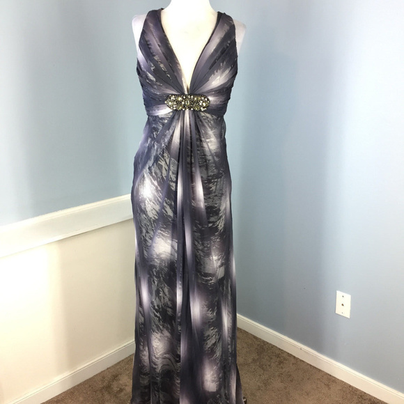 Cache Dresses | S 4 6 Gray Ombre Formal Evening Gown Dress | Poshmark